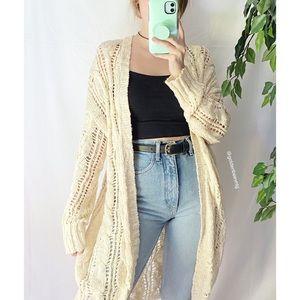 🌿 AE Cream Ivory Longline Knit Cardigan 🌿